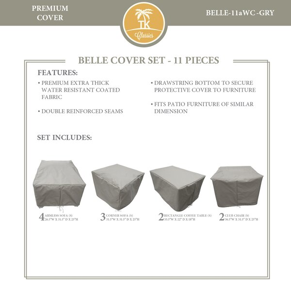 Bee 11 Piece Water Resistant Patio Furniture Cover Set by TK Classics