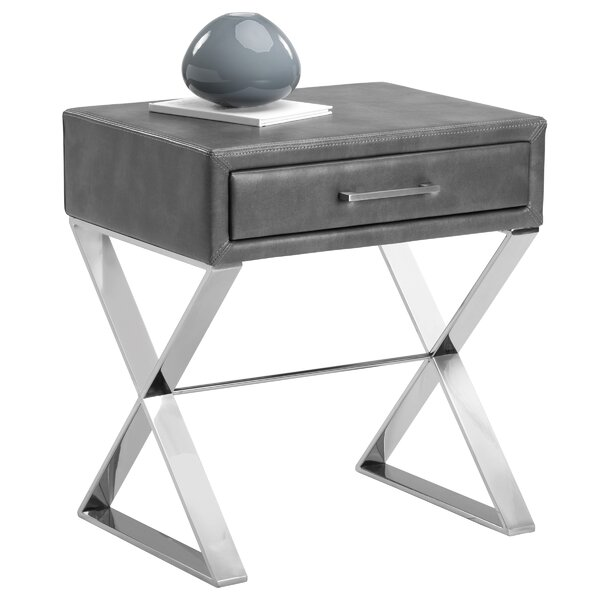 Aranda End Table with Storage by Everly Quinn Everly Quinn