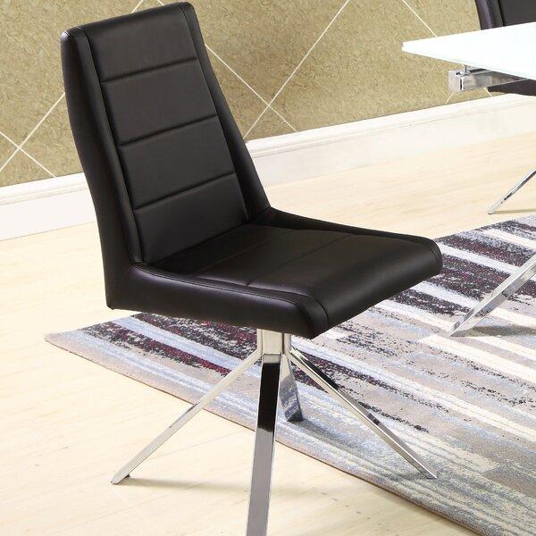 Tenafly Back Pyramid Base Upholstered Dining Chair (Set of 2) by Orren Ellis Orren Ellis