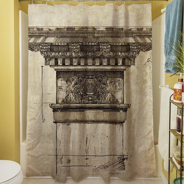 Column I Shower Curtain by Manual Woodworkers & Weavers