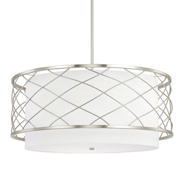 Sawyer 4-Light Drum Chandelier by Donny Osmond Home
