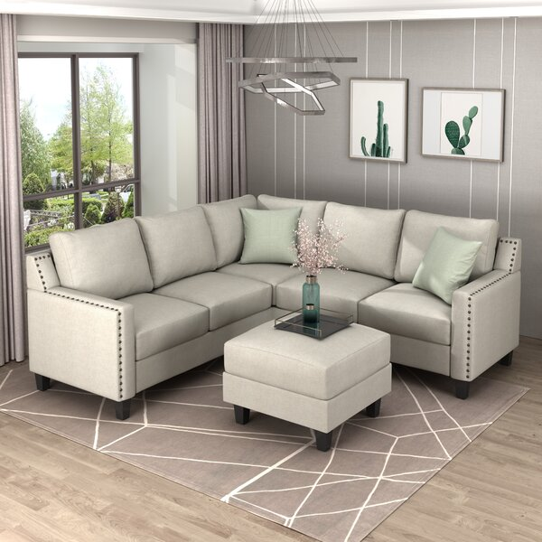 Troxelville 84'' Modular Corner Sectional With Ottoman By Red Barrel Studio®