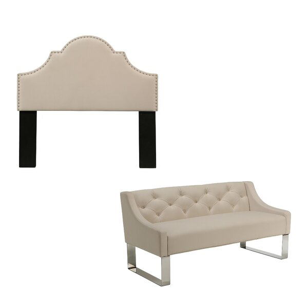 Stepanie Upholstered Panel Headboard by Darby Home Co