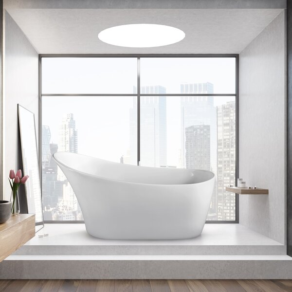 63 x 31.5 Freestanding Soaking Bathtub by Wildon H