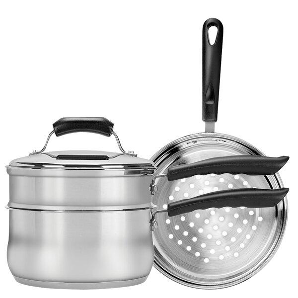 Basics 3-qt. Double Boiler and Steamer Set by Range Kleen