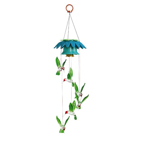 Allyssa Color Changing Hummingbirds Solar Mobile by Harriet Bee