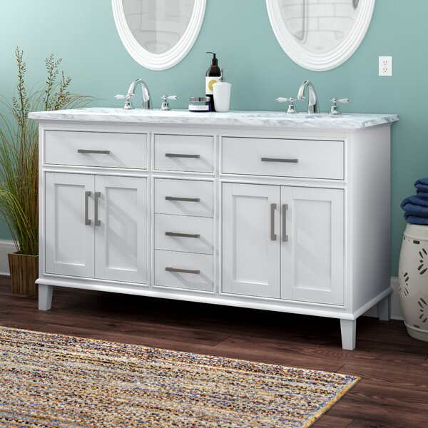 Mundy 60 Double Bathroom Vanity Set by Beachcrest Home