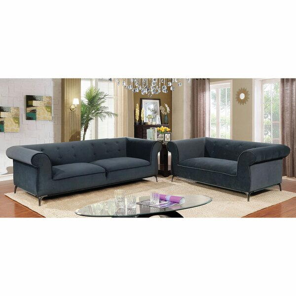 Aparicio 2 Piece Living Room Set by Everly Quinn