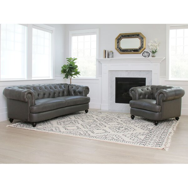 Barnabas 2 Piece Leather Living Room Set by Darby Home Co