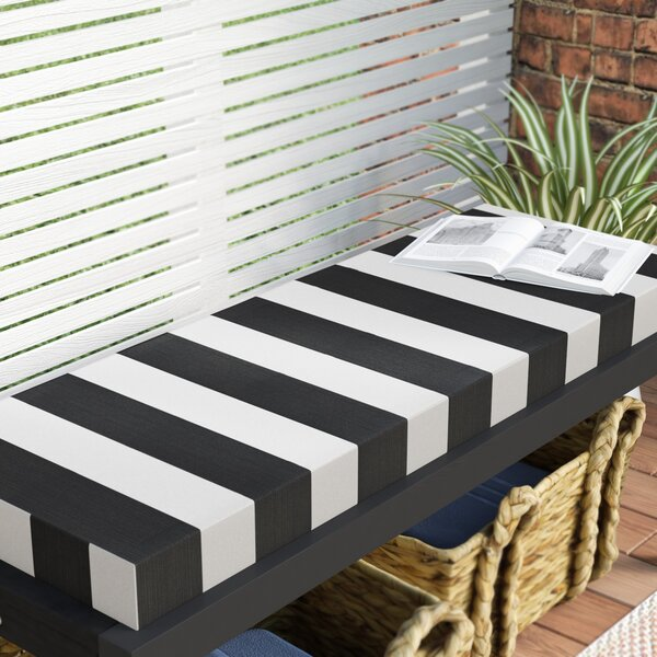 Knife Edge Indoor/Outdoor Sunbrella Bench Cushion with Zipper by Three Posts