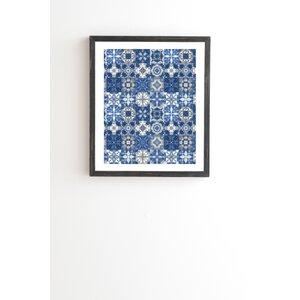 Shibori Skies Framed Graphic Art by East Urban Home