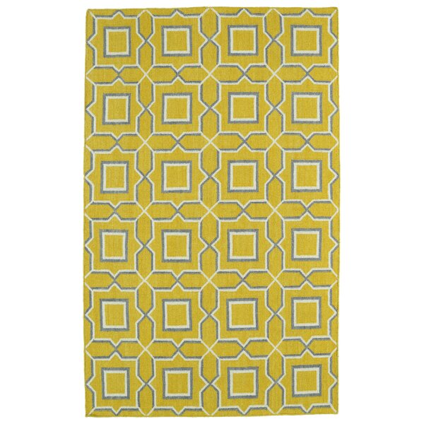 Christien Yellow Geometric Area Rug by Zipcode Design