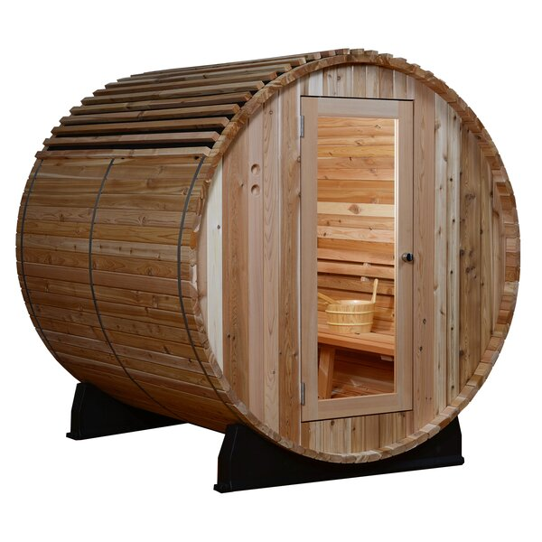 Barrel Sauna Roof Cover by Almost Heaven Saunas LLC