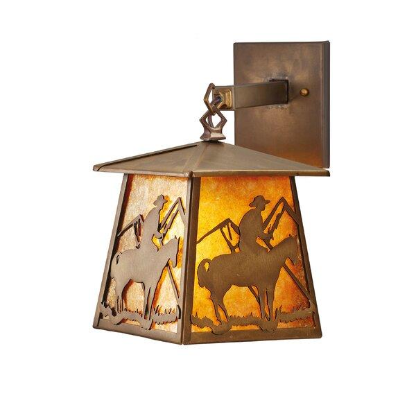 Yamada Cowboy 1-Light Outdoor Wall Lantern by Loon Peak