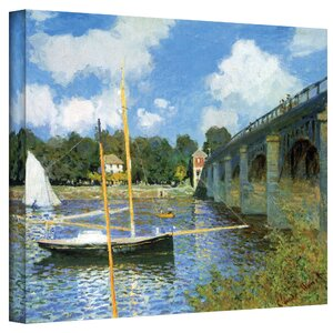 'The Bridge of Argenteuil' by Claude Monet Painting Print on Canvas by Three Posts