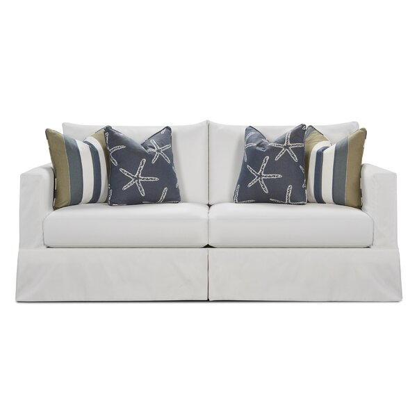 Box Cushion Sofa Slipcover by Rosecliff Heights