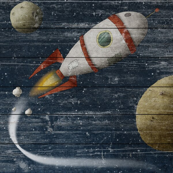 Space Travel Graphic Art on Wood by Marmont Hill