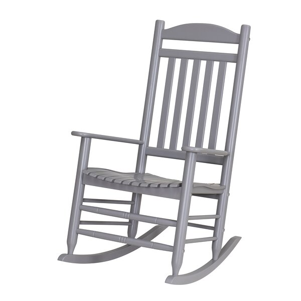 Durazo Wood Slat Rocking Chair by Highland Dunes