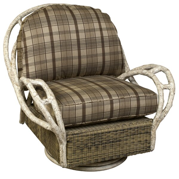 River Run Butterfly Swivel Patio Chair with Cushion by Woodard