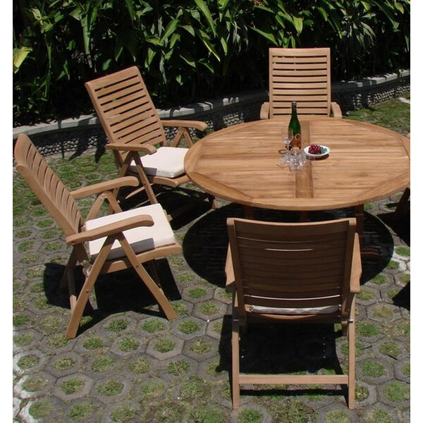 Lenum Luxurious 5 Piece Teak Dining Set By Rosecliff Heights by Rosecliff Heights Comparison