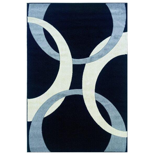 Black/Blue Area Rug by Threadbind