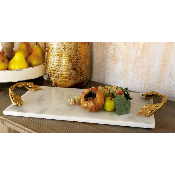 Aluminum Marble Rectangular Tray by Cole & Grey