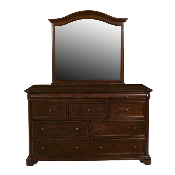 Keven 10 Drawer Dresser With Mirror By Alcott Hill