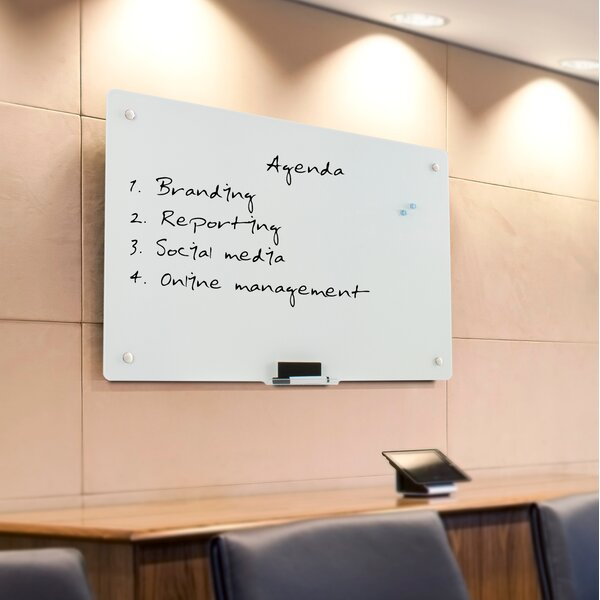 Wall Mounted Magnetic Whiteboard, 24 x 36 by Vivo