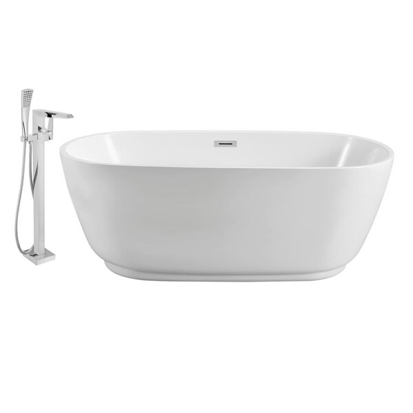71 x 32 Freestanding Soaking Bathtub by Streamline Bath