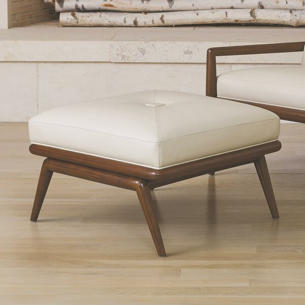 Check Price Lucas Leather Tufted Cocktail Ottoman