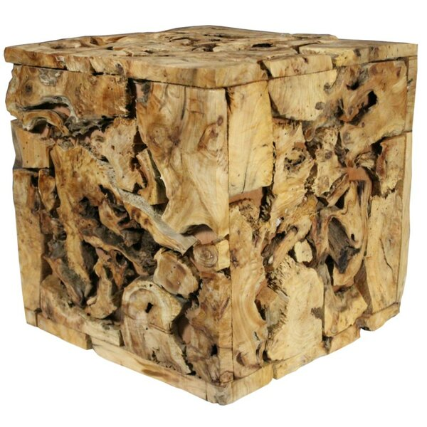 Cedar Wooden Stool by ESSENTIAL DÉCOR & BEYOND, INC