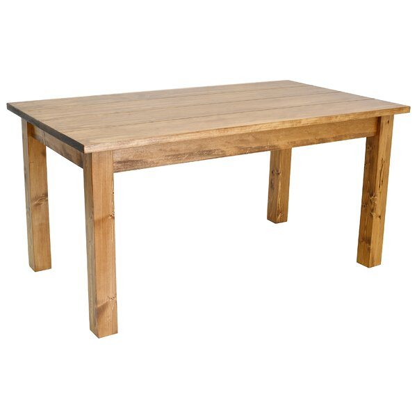 Early American Solid Wood Dining Table by Ezekiel and Stearns