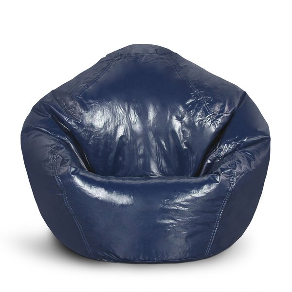 Standard Faux Leather Bean Bag Chair & Lounger By Trule Teen