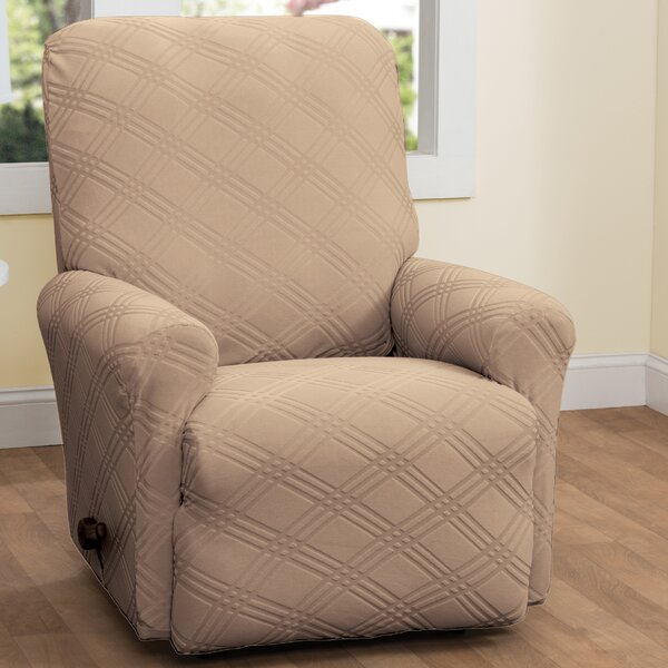 Double Diamond Box Cushion Recliner Slipcover by R