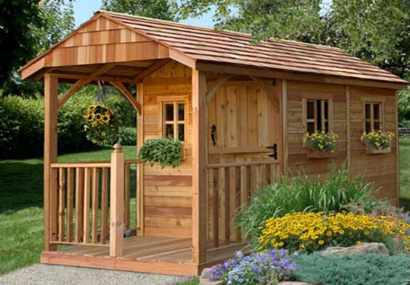 Santa Rosa 8 ft. W x 12 ft. D Wooden Storage Shed by Outdoor Living Today
