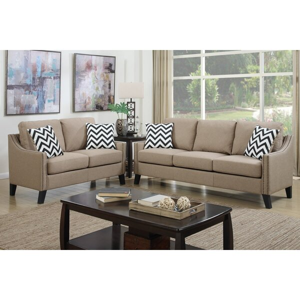 Broadway Sofa and Loveseat Set by A&J Homes Studio