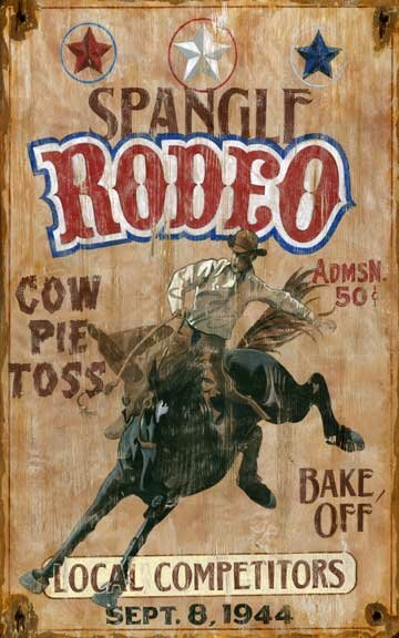 Spangle Rodeo Vintage Advertisement Plaque by Millwood Pines