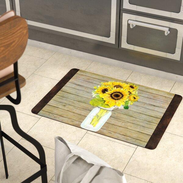 Twila Mason Jar Sunflowers Kitchen Mat