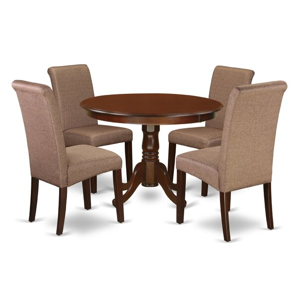 Park Place Table 5 Piece Solid Wood Dining Set by Charlton Home