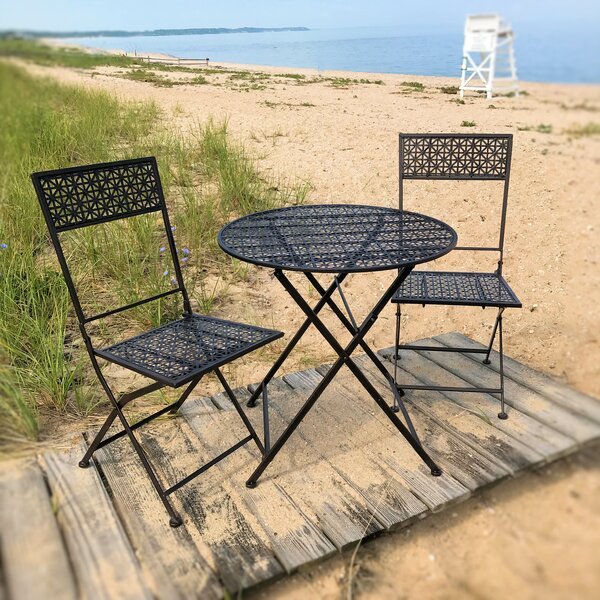 Goley Garden Patio 3 Piece Bistro Set by Fleur De Lis Living