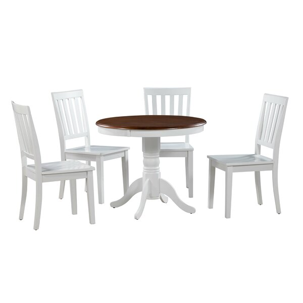 Erica 5 Piece Solid Wood Breakfast Nook by Alcott Hill