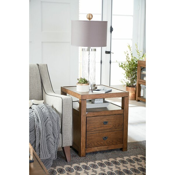 Adira End Table with Storage by Millwood Pines Millwood Pines