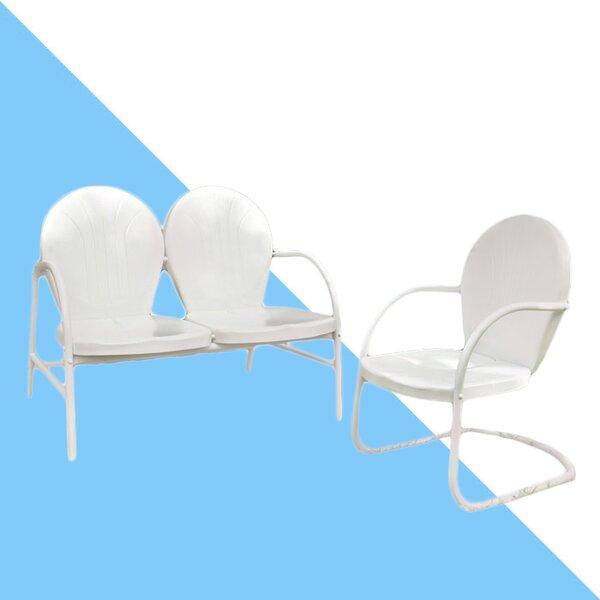 Karim 2 Piece Sunbrella Sofa Seating Group by Wrought Studio