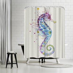 Sam Nagel Seahorse Shower Curtain ByEast Urban Home