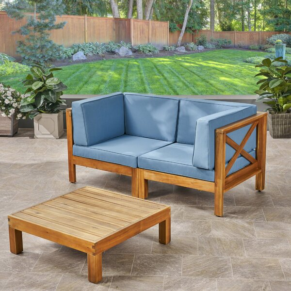 Ellison 3 Piece Sofa Seating Group with Cushions by Highland Dunes