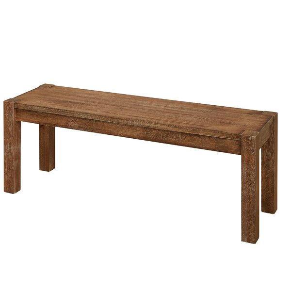 Dessie Wood Bench by Gracie Oaks