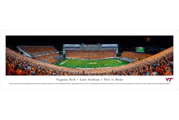 NCAA Virginia Tech - Football - 50 Yard Line by James Blakeway Photographic Print by Blakeway Worldwide Panoramas, Inc