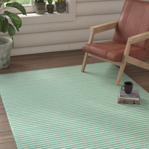 Walton Hand-Woven Ivory/Mint Area Rug by Union Rustic