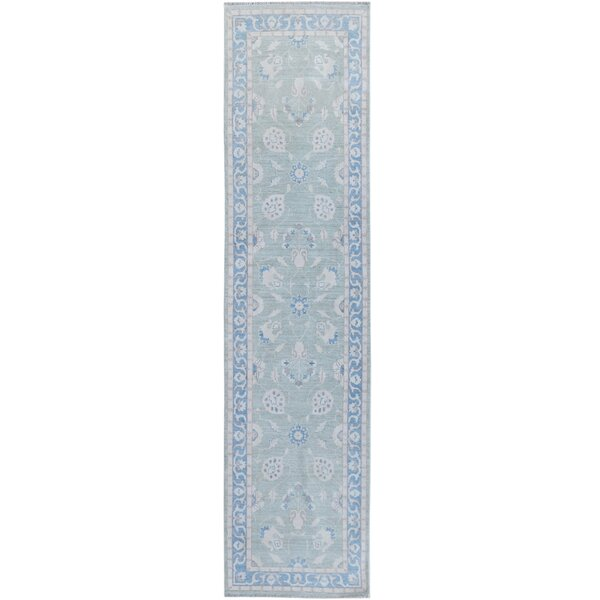 Hand-Knotted Blue/Gray Area Rug by Wildon Home ®