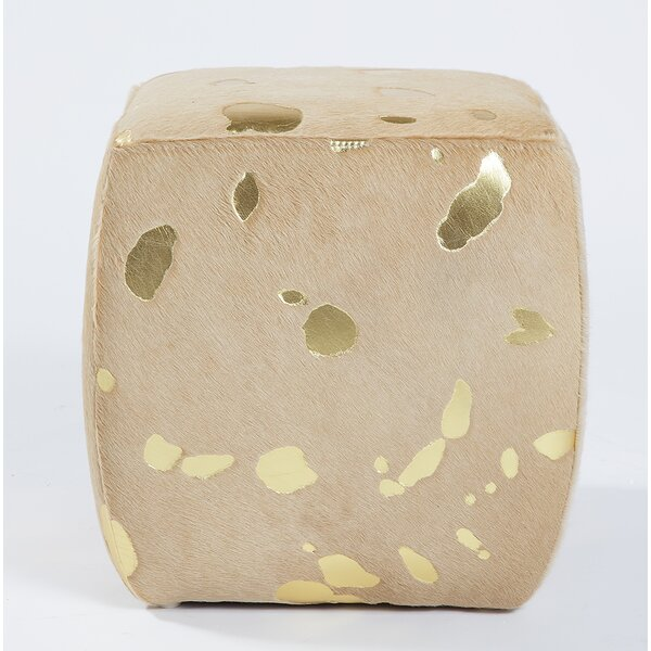 Kowal Square Leather Cube Ottoman by Mercer41 Mercer41